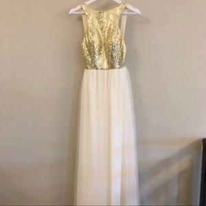 Sequins and Tulle Gold Homecoming / Prom Dress